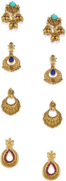 Jhumka Earrings Buy Jhumki Online Jhumka Designs Flipkart Com