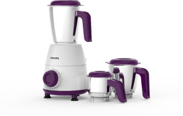 PHILIPS Daily Collection HL7505/00 500 W Mixer Grinder (3 Jars, White)