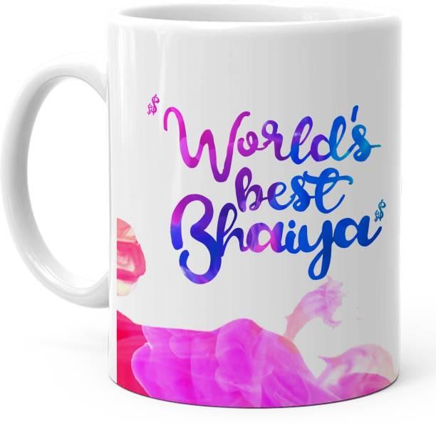 HOT MUGGS Worlds Best Bhaiya Ceramic Coffee Mug