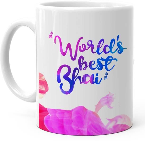 HOT MUGGS Worlds Best Bhai Ceramic Coffee Mug