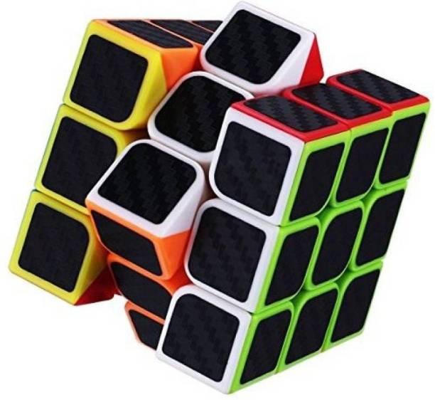 EMOB High Speed Carbon Fiber Sticker 3x3 Neon Colors Magic Cube Puzzle Toy