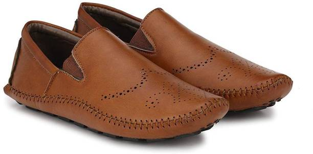 OPTIFEET Men s Tan Synthetic Leather Semi-Casual Loafers Mocassin For Men 3e543fbf1e74