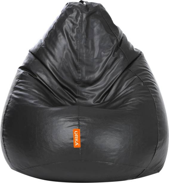ORKA XXXL Tear Drop Bean Bag Cover  (Without Beans)