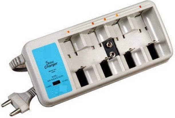 PagKis Universal Battery Charger For D, C, Aa, Aaa Rechargeable Batteries - For Ni-cd, Ni-mh  Camera Battery Charger