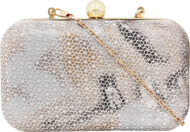 Berrys Casual Party Silver Clutch