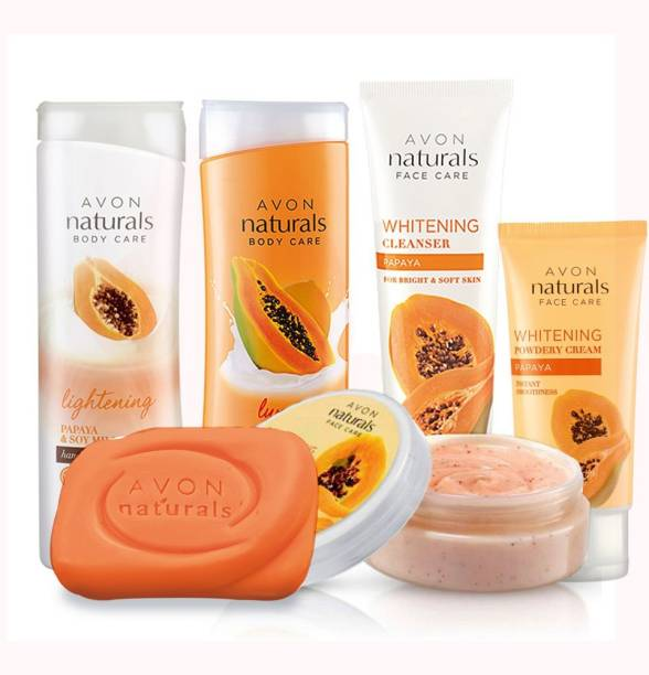 AVON Naturals Papaya Whitening Full Skin Care Regimen (set of 6)