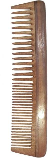 Ginni Marketing Ginni Regular-Detangler Neem Wood Comb(7.5 Inches )
