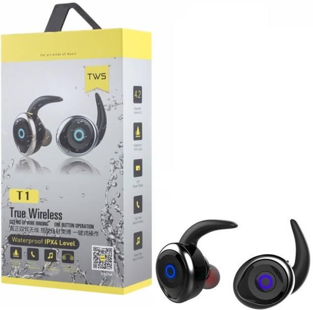 b775a7d3adc eDUST Premium Quality awei T1 TWS True Wireless Waterproof IPX4 Level Bluetooth  Headset with Mic