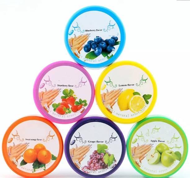 Majik Set Of 6 Pcs Nail Paint Remover Pads Nail Polish Remover Wipes Round Tissues, 20 Grams