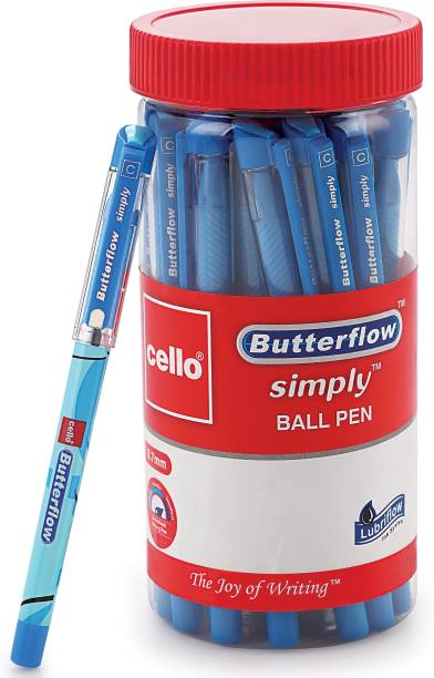 cello Butterflow Simply Ball Pen Jar Ball Pen