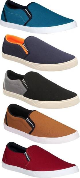 Chevit Combo Pack of 5 Casual & Sports Shoes Canvas Shoes For Men