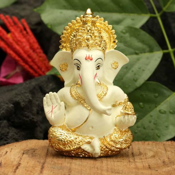 bdfb1cfe57 Collectible india Gold Plated Lord Ganesha Figurine for Car Dashboard Ganesh  Statue Ganpati Puja Gifts Idols