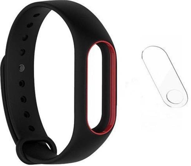 Veronic Replacement Strap for Mi band HRX EDition and Mi band 2 Straps black color with screen protector Smart Band Strap