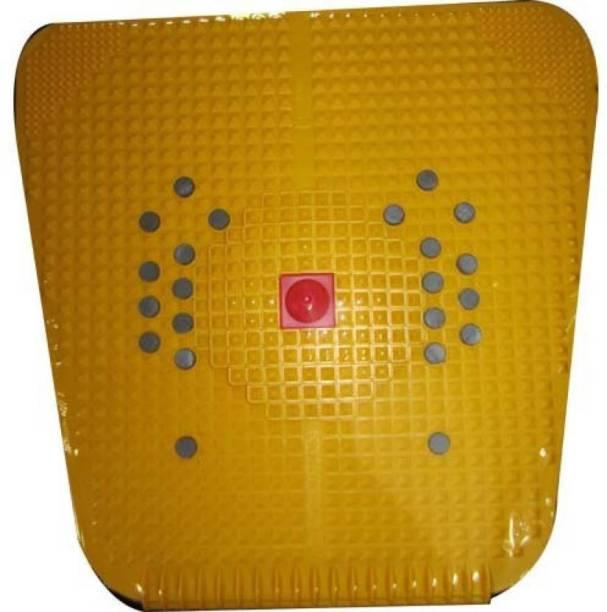 MANOGYAM Acupressure Mat Relieve Stress Pain Acupuncture Massager Yellow 10 mm Accupressure Mat
