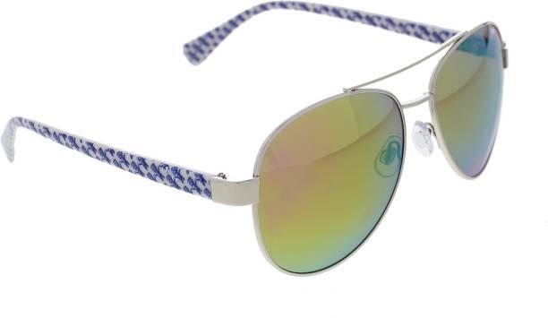 364f699130d7 Vast Polar Vision UV Proction Aviator Unisex Sunglasses ( PV287GREEN