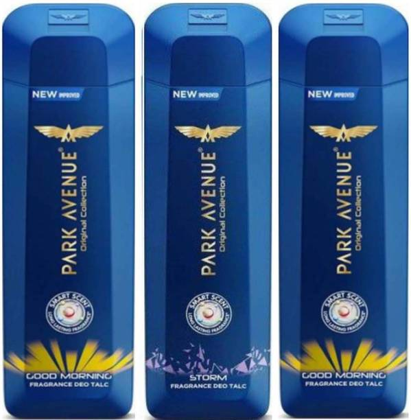 PARK AVENUE GOOD MORNING, STORM Deo TALC 200g × 3 Pack Of Three