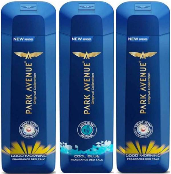 PARK AVENUE GOOD MORNING, COOL BLUE Deo TALC 200g × 3 Pack Of Three
