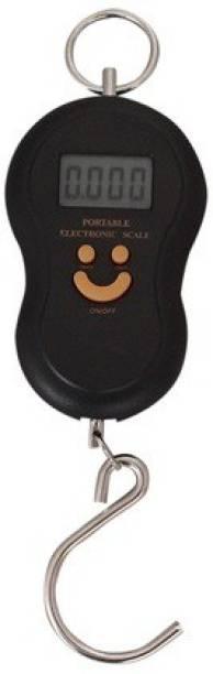Manogyam UPTO 40KG measures Smiley Portable Luggage Hanging,Digital Kitchen Weighing Scale