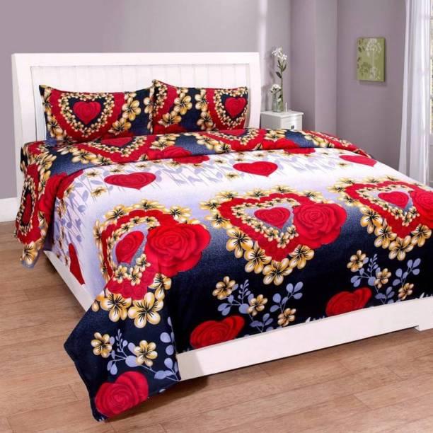 NAINI HOME 144 TC Microfiber Single Floral Bedsheet