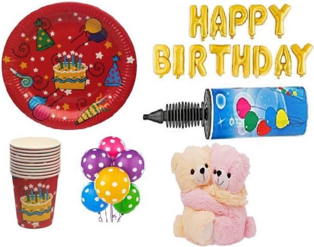 bb870f48358 Arvel girls birthday combo foil balloon pump golden foil balloon 1 pump 50  polka