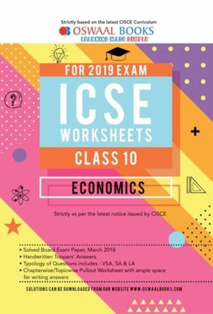 Oswaal ICSE Worksheet Class 10 Economics