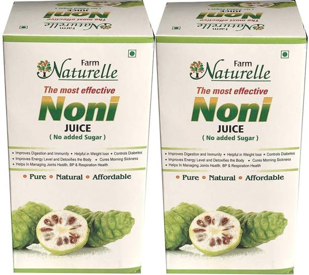 Farm Naturelle Free Noni Juice, 400ml (Pack of 2)