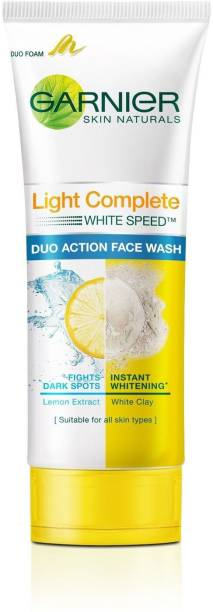 GARNIER Light Complete White Speed Duo Action Face Wash