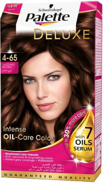 cb1aecdeb9 Schwarzkopf Palette Deluxe Intense Oil Care Color 4-65 Dazzling Brown 115  ml Hair Color