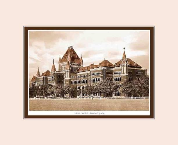 Old Vintage Bombay (Mumbai) Mounted Photo Frame of High Court Fine Art Print