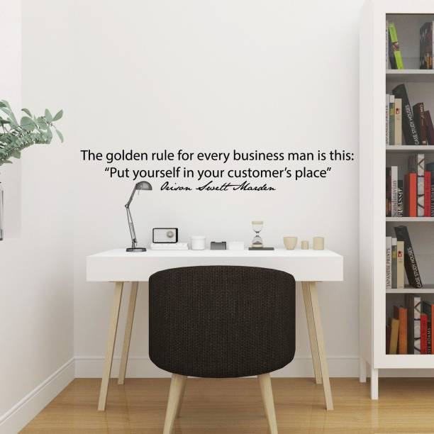 "marvellous Large wall sticker ""The Glden Rule office quotes"" wall Sticker"