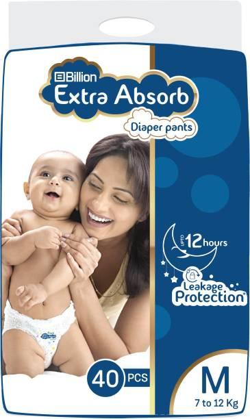 Billion Extra Absorb Diaper Pants   M