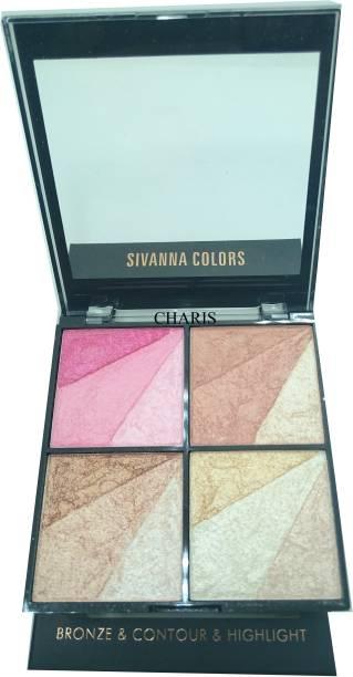 Sivanna 14 Shade Super Highlighter-36203 Highlighter