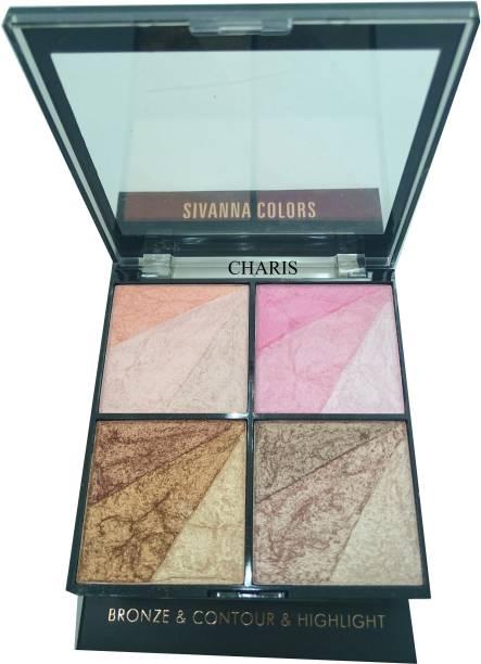 Sivanna 12 Shade Super Highlighter-36201 Highlighter