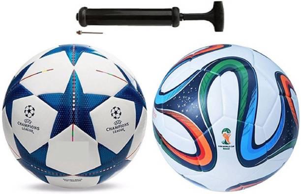 Unik Star Blue + Bazuka 4 Football Combo With Pump Football Kit