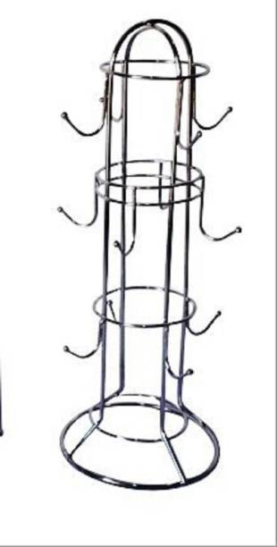 Somkala Steel Coffee Cup Holder / Tea Cup Stand / Mug Holder Stand (12 Cup) Cup Kitchen Rack