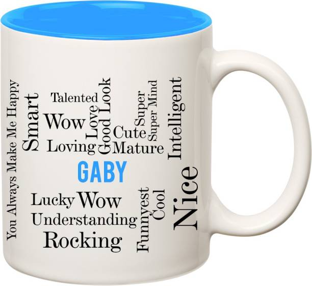 nice mug sets coffee mug ibgift gaby good personality inner blue ceramic coffee name mug online shopping india buy mobiles electronics appliances