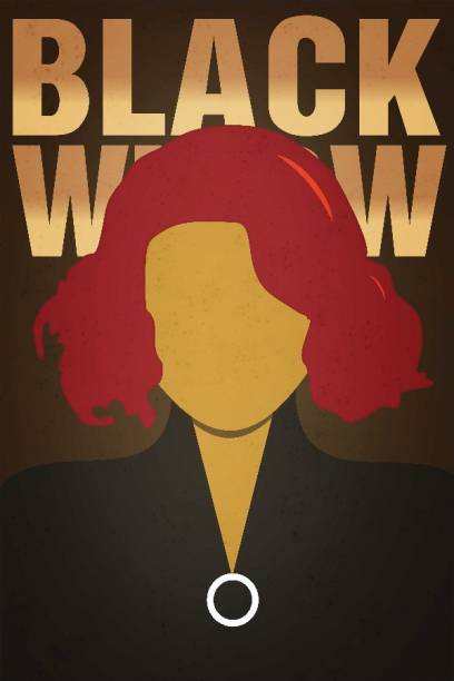 BLACK WIDOW POSTERS With Pasting Material Photographic Paper 18 Inch X 12