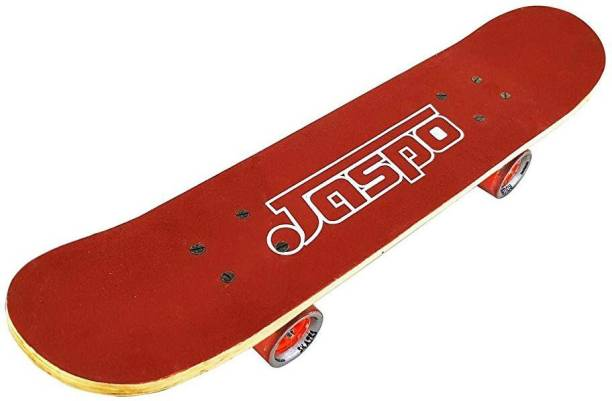 """Jaspo Experts 27""""x7"""" Anti Skid Skateboard with Grip Tape and Carry Bag (Red) 27 inch x 7 inch Skateboard"""