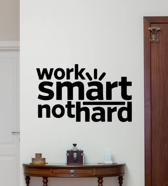 "marvellous Large wall sticker ""Work smart not Hard"" inspiration motivationwall Sticker"