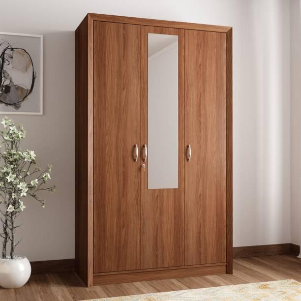 Hometown Stark Engineered Wood 3 Door Almirah