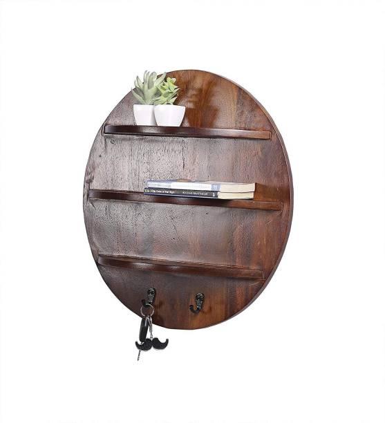 2f3960a5a08 Gorevizon Brown Wooden Wall Shelf