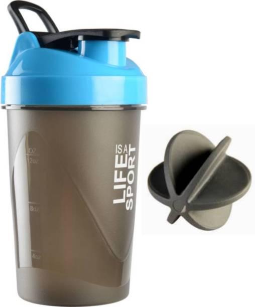 UDAK LIFE IS A SPORT BLUE SHAKER BOTTLE / PROTEIN SHAKER BOTTLE FOR GYM & FITNESS 500 ml Shaker