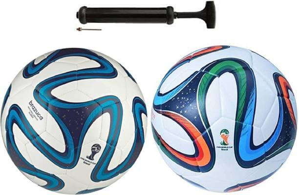 Nice Brazzuka Blue + 4 Color BrazzukaCombo Football + Pump Football Kit