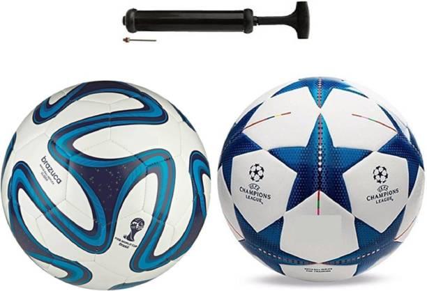 Nice Brazzuka Blue + Starblue Combo Football + Pump Football Kit