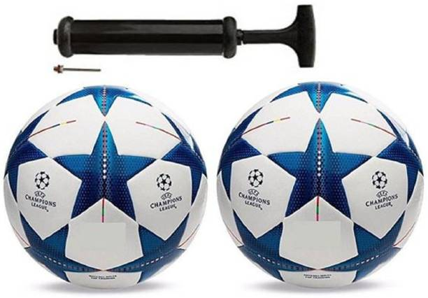 Unik Star Blue Combo Football With Pump Football Kit
