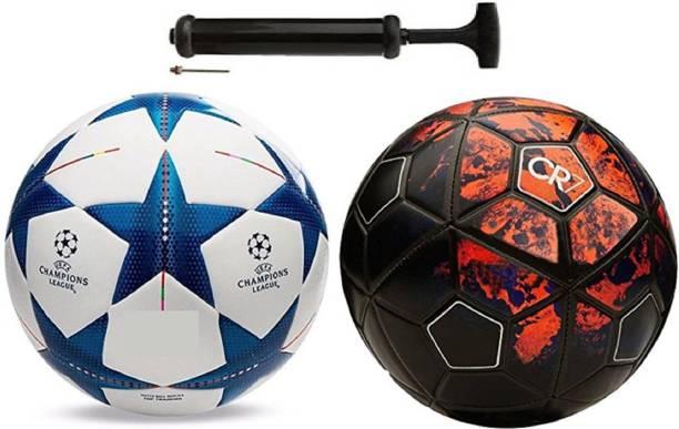 Nice Hot Star Blue + 7 FCR Football Combo With Pump Football Kit