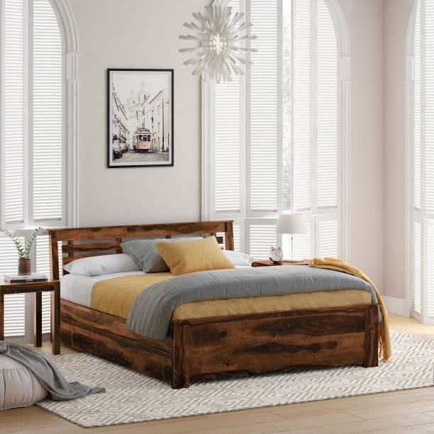 Flipkart Perfect Homes PureWood Sheesham King Drawer Bed