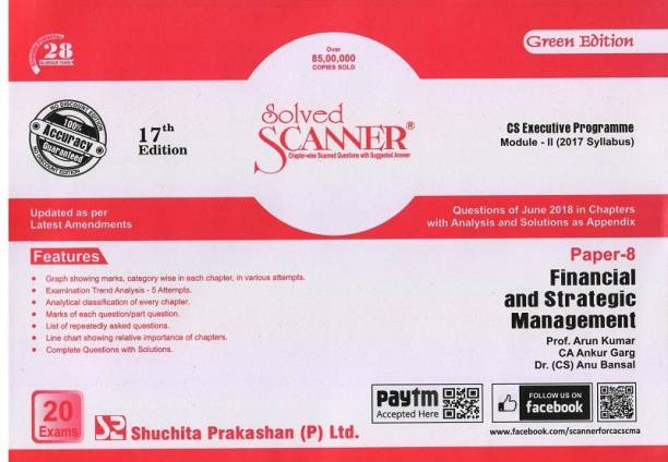 Solved Scanner CS Executive Module-II (New Syllabus Only) Paper-8 Financial & Strategic Management