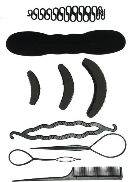 BELLA HARARO 9 Pc. set Braid Maker Puff Bumpit Hair Styling Combo Hair Accessory Set