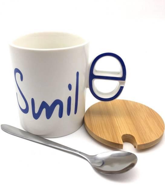 Satyam Kraft Designer Smile Ceramic Mug